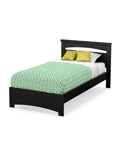 South Shore Libra Twin Bed Set-PURE BLACK-Twin