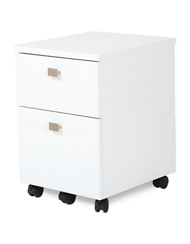 South Shore Interface Two-Drawer Mobile File Cabinet-PURE WHITE-One Size