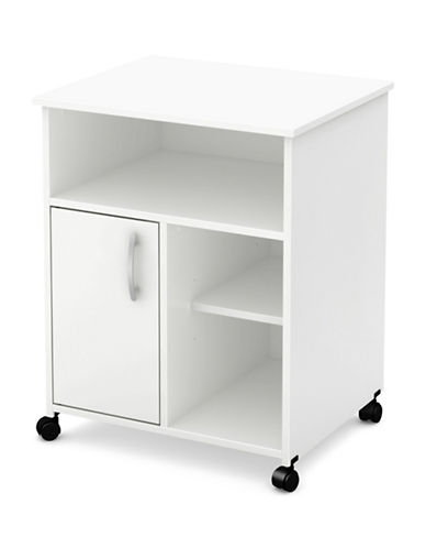 South Shore Axess Microwave Cart on Wheels-WHITE-One Size