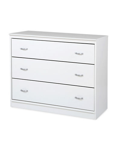 South Shore Mobby 3-Drawer Chest-PURE WHITE-One Size