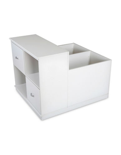 South Shore Mobby Mobile Storage Unit-PURE WHITE-One Size