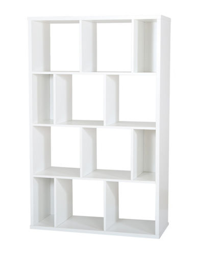 South Shore Reveal Shelving Unit with 12 Compartments-PURE WHITE-One Size