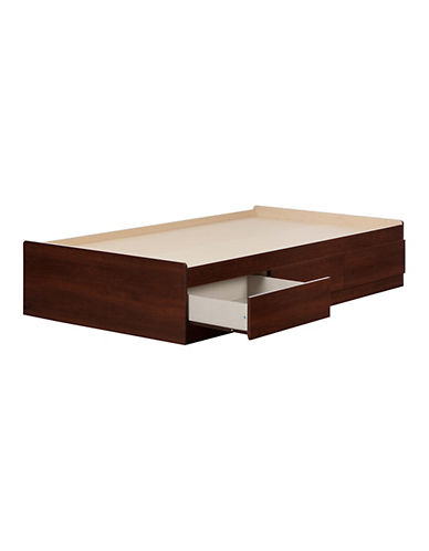 South Shore Summer Breeze Twin Mates Bed with Three Drawers-ROYAL CHERRY-Twin