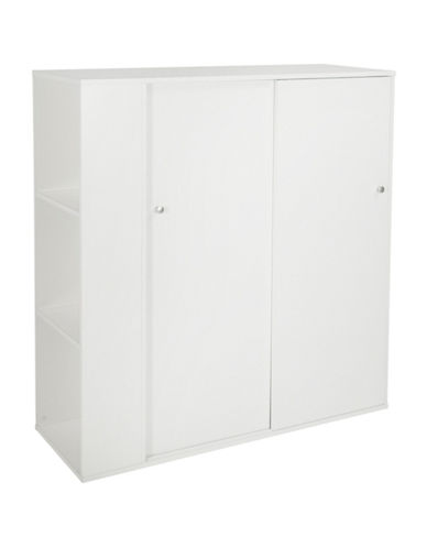 South Shore Crea Kids Storage Cabinet with Sliding Doors-PURE WHITE-One Size