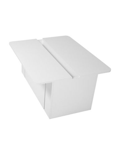 South Shore Crea Activity Table with Toy Box on Wheels-PURE WHITE-One Size