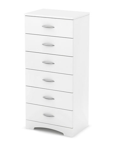 South Shore Step One Six-Drawer Chest-PURE WHITE-One Size