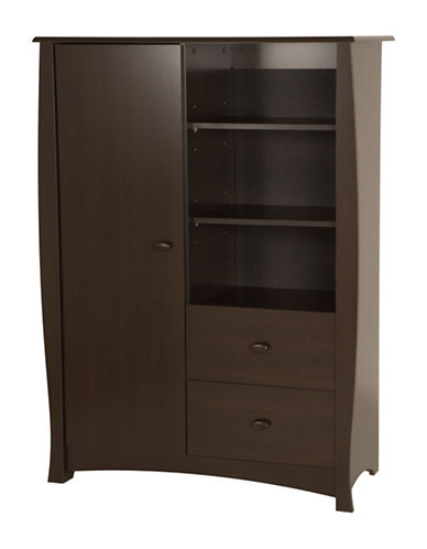 South Shore Beehive Armoire-CHOCOLATE-One Size