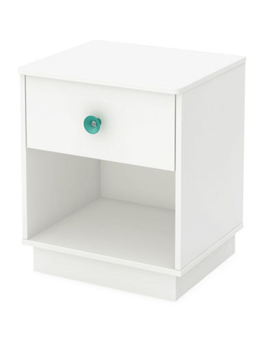 South Shore Little Monsters One-Drawer Nightstand-PURE WHITE-One Size