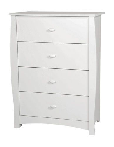 South Shore Beehive Changing Table and 4-Drawer Chest Set-PURE WHITE-One Size
