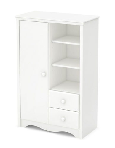 South Shore Angel Changing Table and Armoire with Drawers-PURE WHITE-One Size