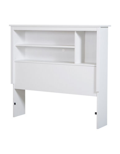 South Shore Vito Twin Bookcase Headboard-PURE WHITE-Twin