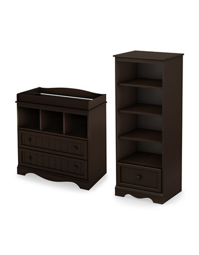 South Shore Savannah Two-Piece Changing Table and Shelving