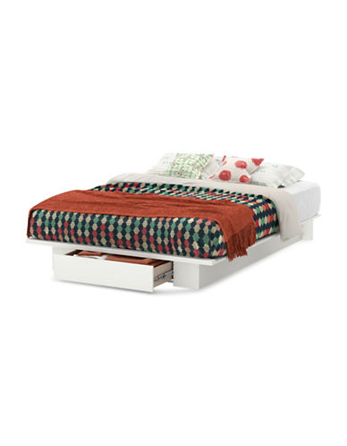 South Shore Holland Platform Bed-PURE WHITE-Double/Queen