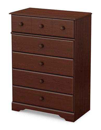 South Shore Little Treasures 5-Drawer Chest-ROYAL CHERRY-One Size