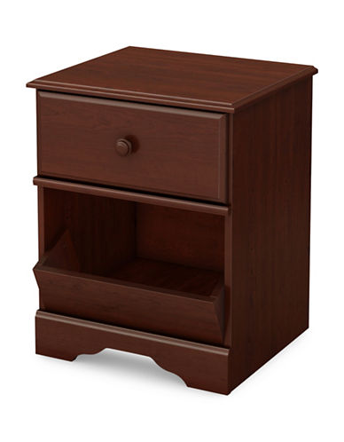 South Shore Little Treasures One-Drawer Nightstand-ROYAL CHERRY-One Size