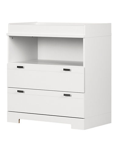 South Shore Reevo Changing Table with Storage-PURE WHITE-One Size