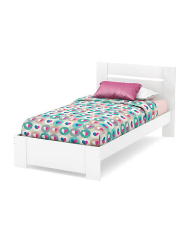 South Shore Reevo Twin Bed Set-PURE WHITE-One Size