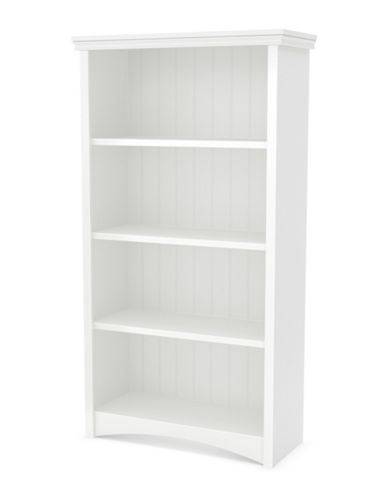 South Shore Gascony Four-Shelf Bookcase-PURE WHITE-One Size