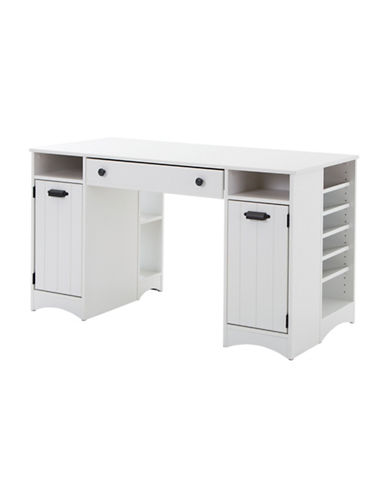 South Shore Artwork Craft Table with Storage-PURE WHITE-One Size
