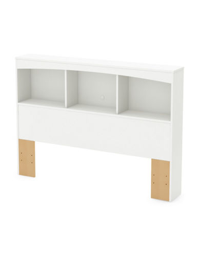 South Shore Step One Full and Queen Bookcase Headboard-PURE WHITE-Full