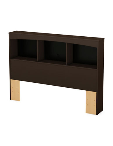 South Shore Step One Full and Queen Bookcase Headboard-CHOCOLATE-Full