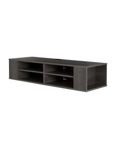 South Shore City Life Wall Mounted Media Console-GREY MAPLE-One Size