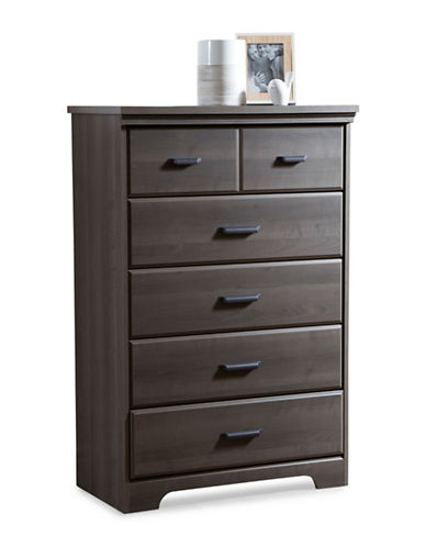 South Shore Versa Five-Drawer Chest-GREY-One Size