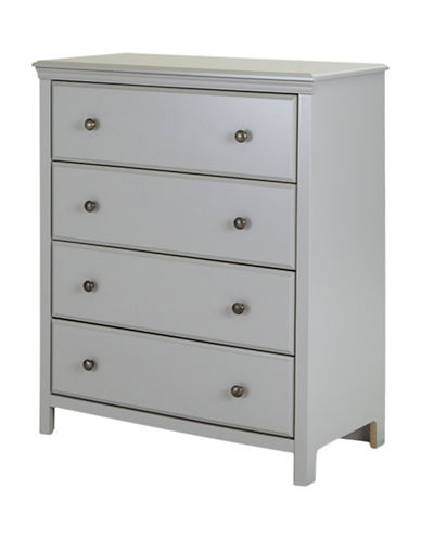 South Shore Cotton Candy Four-Drawer Chest-SOFT GREY-One Size