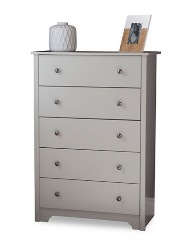 South Shore Vito Five-Drawer Chest-SOFT GREY-One Size