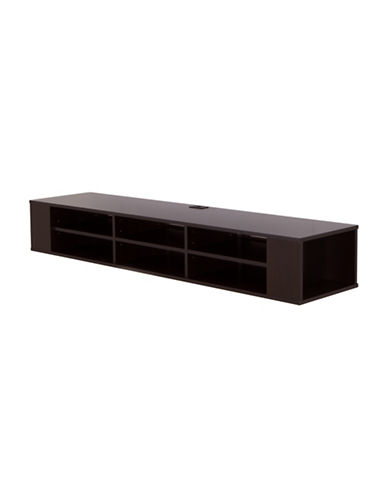 South Shore City Life Wall Mounted Media Console-CHOCOLATE-One Size