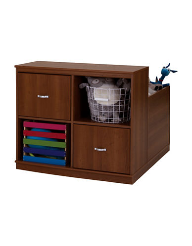South Shore Mobby Mobile Storage Unit-MORGAN CHERRY-One Size