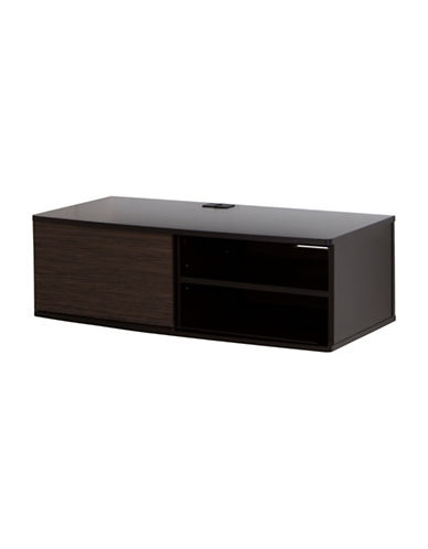 South Shore Agora Wall-Mounted Media Console-CHOCOLATE-One Size