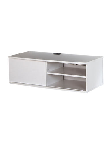 South Shore Agora Wall-Mounted Media Console-PURE WHITE-One Size