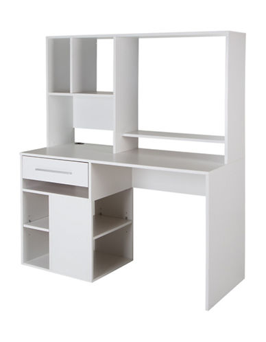 South Shore Annexe Home Office Computer Desk-PURE WHITE-One Size