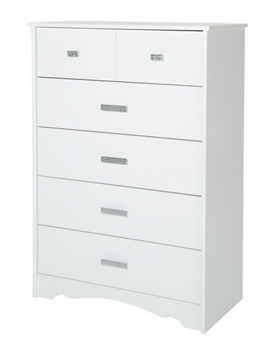 South Shore Tiara Five-Drawer Chest-PURE WHITE-One Size