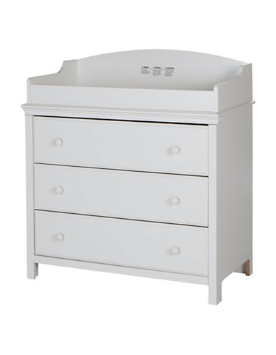 South Shore Cotton Candy Three-Drawer Changing Table-PURE WHITE-One Size
