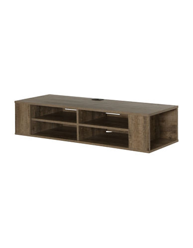 South Shore City Life Wall Mounted Media Console-OAK-One Size