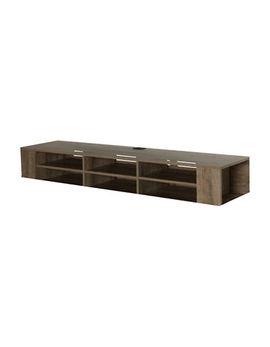 South Shore City Life Wall Mounted Media Console-BROWN OAK-One Size