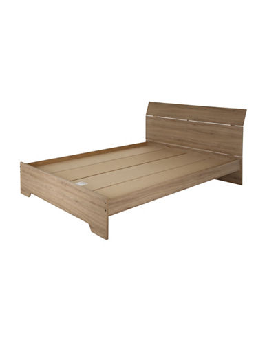South Shore Fusion Complete Queen Bed-RUSTIC OAK-Queen