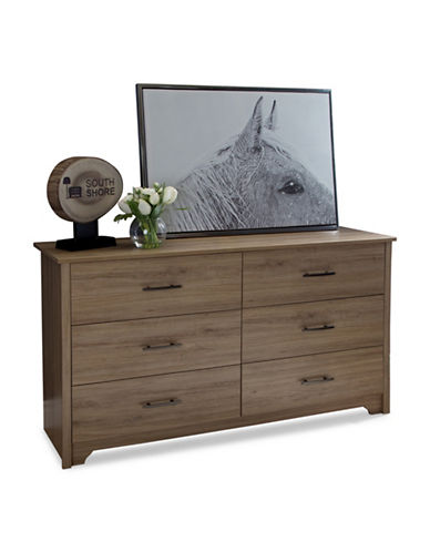 South Shore Fusion Six-Drawer Double Dresser-RUSTIC OAK-One Size