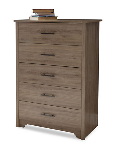 South Shore Fusion Five-Drawer Chest-RUSTIC OAK-One Size