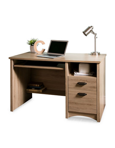 South Shore Gascony Computer Desk with Keyboard Tray-RUSTIC OAK-One Size