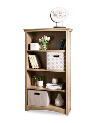 South Shore Gascony Four-Shelf Bookcase-RUSTIC OAK-One Size