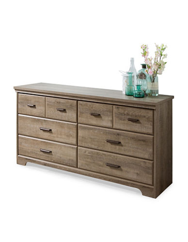 South Shore Versa Six-Drawer Double Dresser-BROWN OAK-One Size