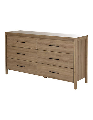 South Shore Gravity Six-Drawer Double Dresser-RUSTIC OAK-One Size