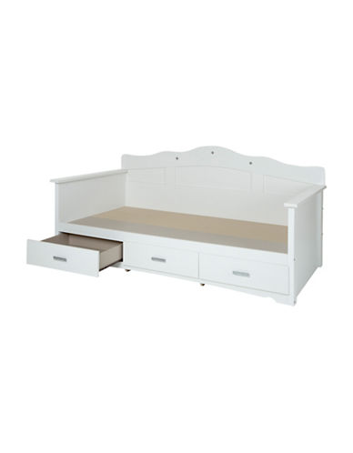 South Shore Tiara Twin Daybed with Storage-PURE WHITE-Twin
