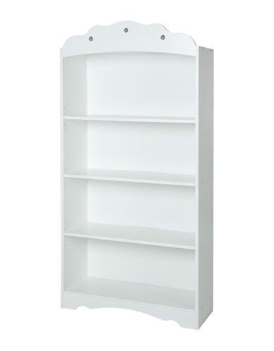 South Shore Tiara Four-Shelf Bookcase-PURE WHITE-One Size