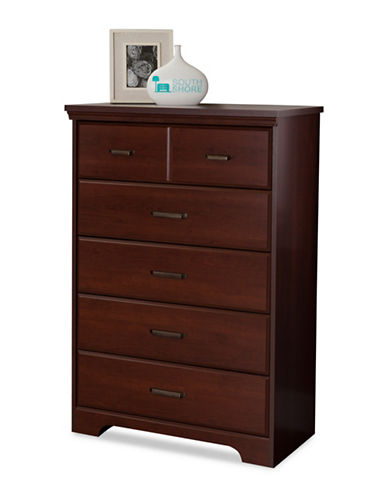 South Shore Versa Five-Drawer Chest-ROYAL CHERRY-One Size
