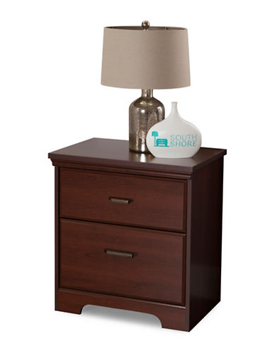 South Shore Versa Two Drawer Nightstand-RED-One Size