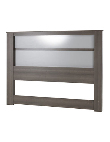 South Shore Gloria King Headboard with Lights-GREY-King